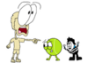 Woody, Tennis Ball, and Teardrop from BFDI