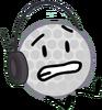 Golf Ball wearing Headset