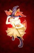 Flame witch braixen by mud cchi-d6mk42f