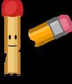 Match holding Pencils corpse
