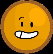 Orange ball's new pose
