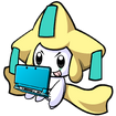 Jirachi on a 3ds by cowctus-d7d3zxo