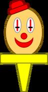 Clown Head Cupcake Topper (Asset, Happy)