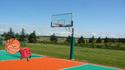 Blocky plays Basketball