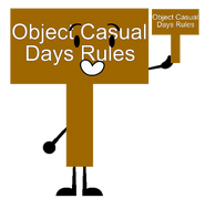 Object Casual Days Rules Sign New Pose