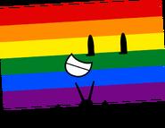 LGBT Flag Pose