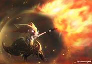 Fire blast braixen by umbrascythe-d7tgmvv