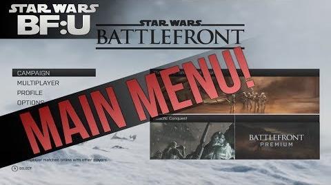 DICE Star Wars Battlefront Main Menu! (fan-made)
