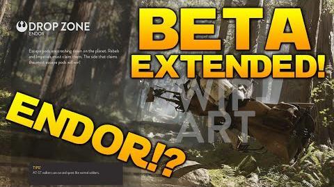 Star Wars Battlefront BETA EXTENDED ENDOR MAP?