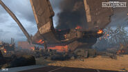 Scarif - Damaged Zeta-class Cargo Shuttle (2) - Daniel Cambrand