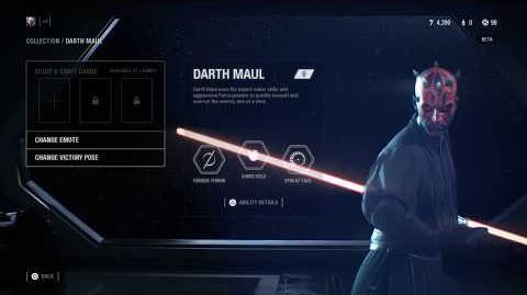 Star Wars Battlefront II Beta; Darth Maul Wipes them out!