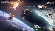 Starfighter Assault - Millennium Falcon and Slave I