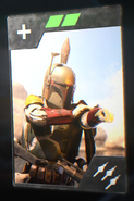 SWBFII DICE Boost Card Boba Fett - Intense Barrage