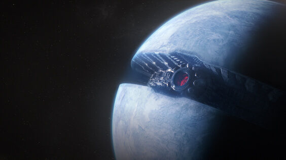 Starkiller Base from Star Wars Episode VII The Force Awakens