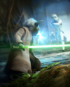 SWBFII DICE Boost Card Yoda - Earned It I Have large