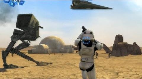Star Wars Battlefront 1 gameplay Tatooine Dune Sea - Galactic Civil War mission 1-0