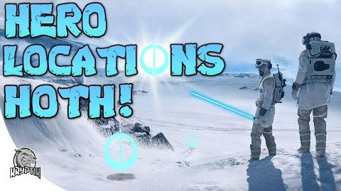 HOTH HERO PICKUP LOCATIONS - (Outpost beta) Star Wars Battlefront