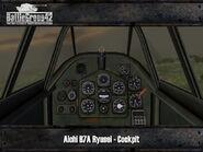 Aichi B7A2 Ryusei cockpit