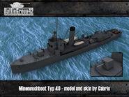 Minensuchboot Typ 40 Render