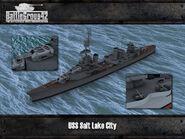 Pensacola-class cruiser render