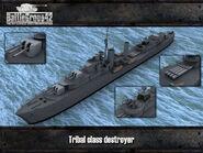 Tribal-class destroyer render