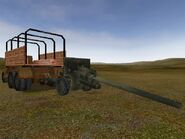 57mm ZIS-2 tow with modified DICE truck