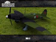 MiG-3 render