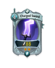 Melee 1 CARD HERO CHARGED SWORD