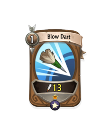 Ranged 0 CARD HERO BLOW DART