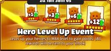 Hero Level Up Event