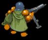 Gunner green back
