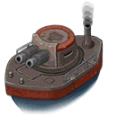 Ship ironclad front nowater