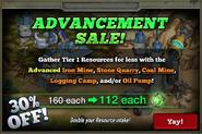 Advancement Sale