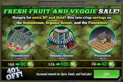 Fresh Fruit And Veggie Sale