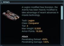 The Aramis's description
