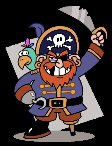 Cartoon-pirate