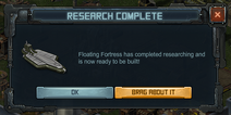 Research Complete - Floating Fortress