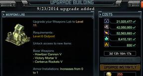 WeaponsLabL11 upgrade