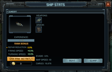 Ship Stats - Example For Ship Rank
