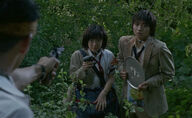 Shuya and Noriko encounter Kawada
