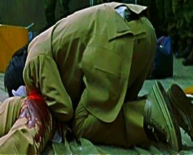 Shuya cries over Nobu's death