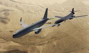 KC-46 Pegasus and B-1 Lancer