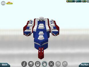 Uncle Sam-maran, a trimaran-battleship-carrier hybrid, and my second VIP rank ship.