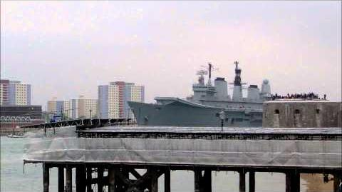 Portsmouth Harbour and HMS Ark Royal