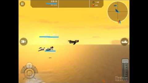 Battleship Craft flying Mig-15