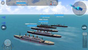 Titanic, Olympic, Carpathia, Britannic, and Lusitania on a test run.jpeg