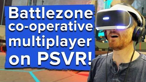 22 minutes of Battlezone co-operative multiplayer PSVR gameplay