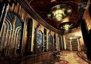 Building interior hallway