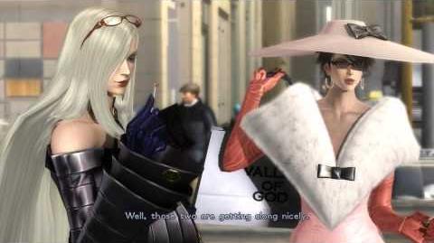 """Bayonetta 2 - """"Several Days Later"""" (Final Cutscene) Bayonetta & Jeanne Shopping, Rodin, Luka & Enzo"""