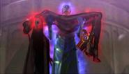 Balder carries a unconsious Bayonetta (Cereza)